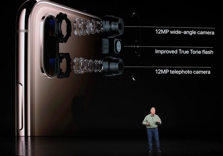 La cámara del iPhone Xs tiene un nuevo sensor y trabaja en conjunto con la red neural. Justin Sullivan/Getty Images/AFP