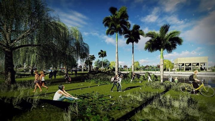 """La """"península verde"""" sería el primer espacio abierto al público. (Fuente: Municipalidad de San Isidro)"""