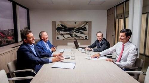 Sergio Massa, Miguel Pichetto, Juan Schiaretti y Juan Manuel Urtubey, el año pasado.