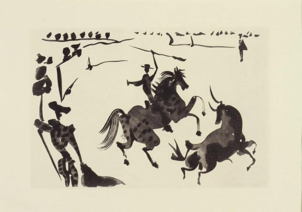 Picasso. Alceando a un toro, c. 1957