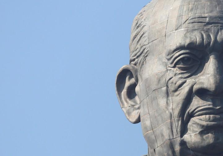 Detalle del rostro de la estatua. REUTERS/AMIT DAVE