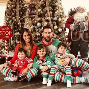 Los Messi en pijama: el divertido saludo de La Pulga y su familia en Navidad