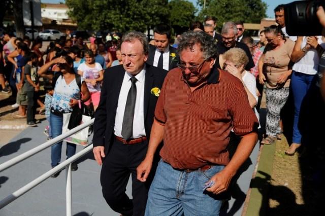 Horacio Sala, durante la despedida a Emiliano en Progreso, (AP/Archivo)