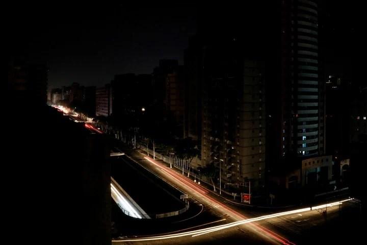 El apagón en Caracas. (Reuter)