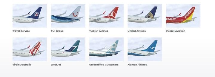 Las aerolíneas que usan el Boeing 737 Max