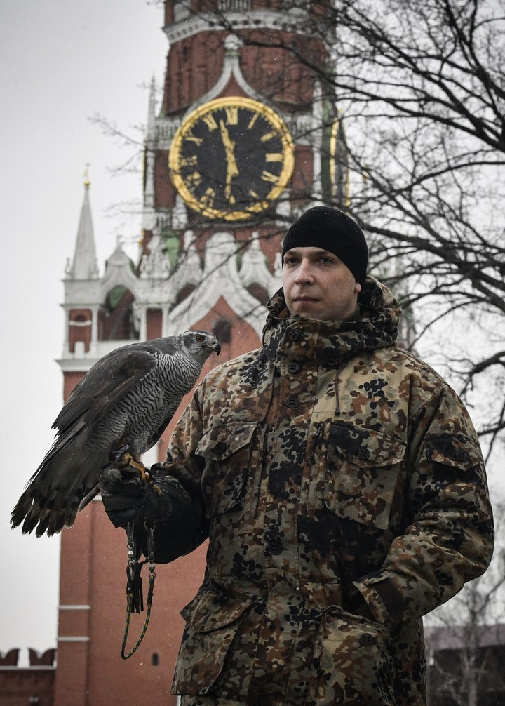 Alexei Vlasov, member of the current ornithological unit.  Photo: AFP