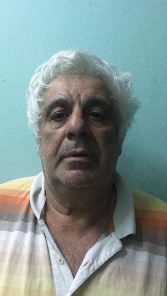 La foto de Alberto Samid, preso en Belice