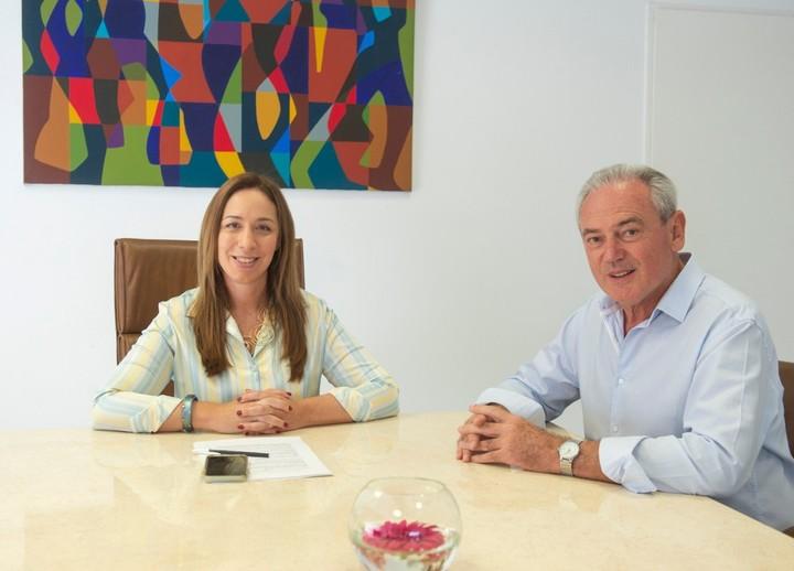 La gobernadora María Eugenia Vidal este lunes con Atilio Benedetti el candidato de Cambiemos para la gobernación de Entre Ríos.
