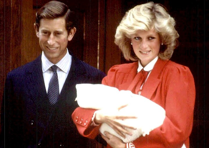 Lady Di and Prince Charles after Harry's birth.  AFP photo.