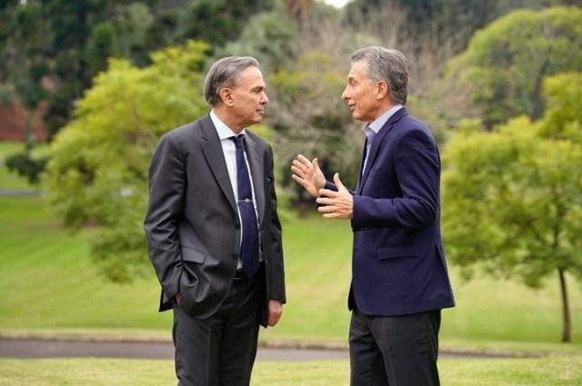 Miguel Pichetto con Mauricio Macri, en Olivos, este miércoles.