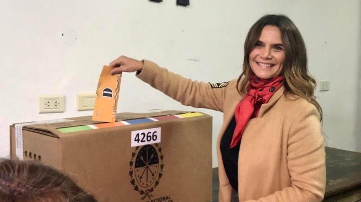 Amalia Granata, voting in her native Santa Fe, in 2019.