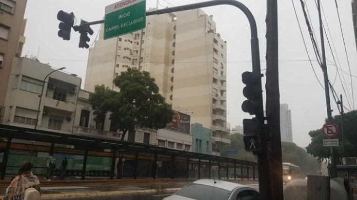 El apagón en Santa Fe y Bonpland, Ciudad de Buenos Aires (Sebastián Alonso)