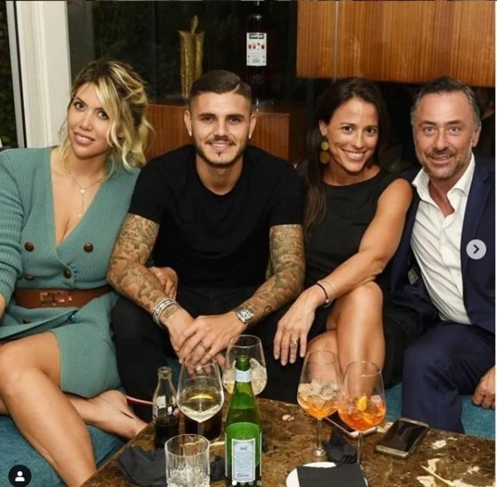 Wanda, Mauro, Bárbara y un amigo en el hotel donde la morocha es Gerenta y la pareja se hospedó muchas veces.
