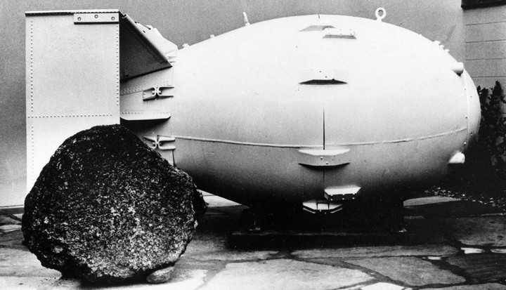 """""""Fat man"""" or """"Fat Man"""".  This was the name of the first atomic bomb.  Photo: AP"""