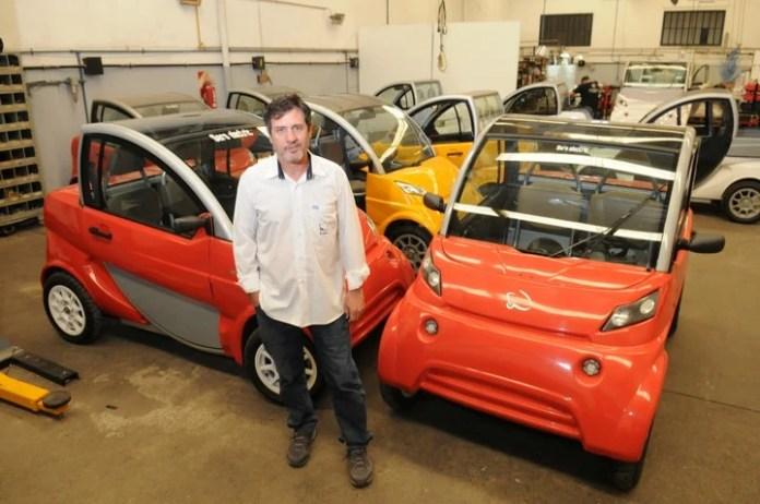 Pablo Naya, director de Sero Electric, la fábrica que produce el auto eléctrico.