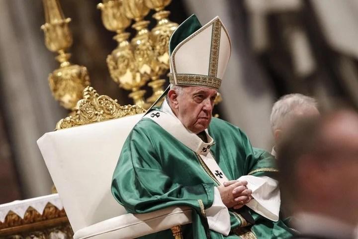 El papa Francisco, al inaugurar el sínodo sobre la Amazonia. (EFE)