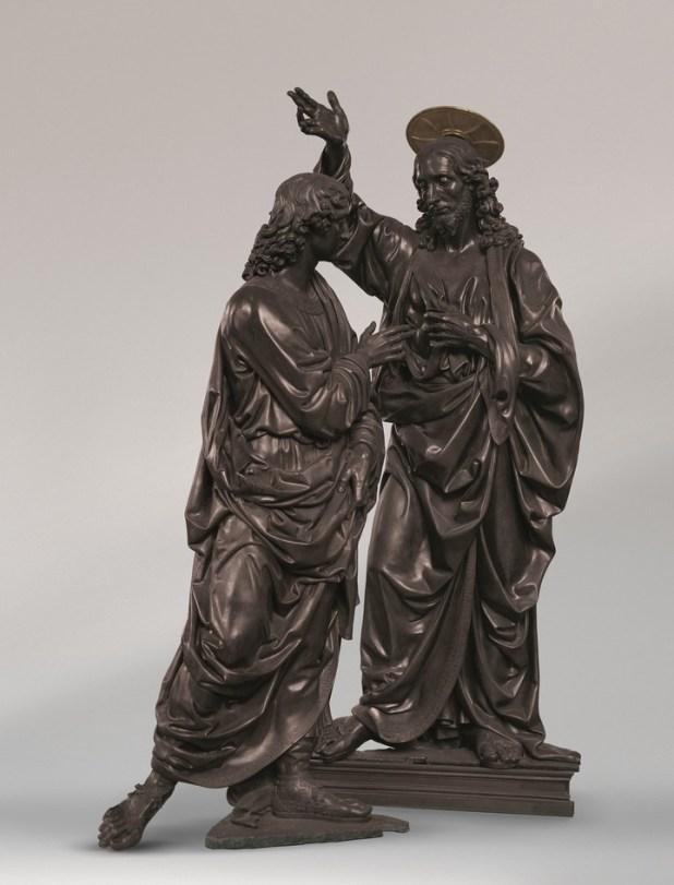 """""""Cristo y Santo Tomás"""" (1467), de Andrea del Verrochio. Leonardo fue su discípulo. / © Louis Frank"""