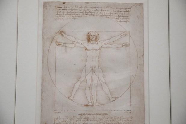 """El """"Hombre de Vitruvio"""" (1490): su préstamo fue el eje de una controversia. REUTERS/Benoit Tessier"""