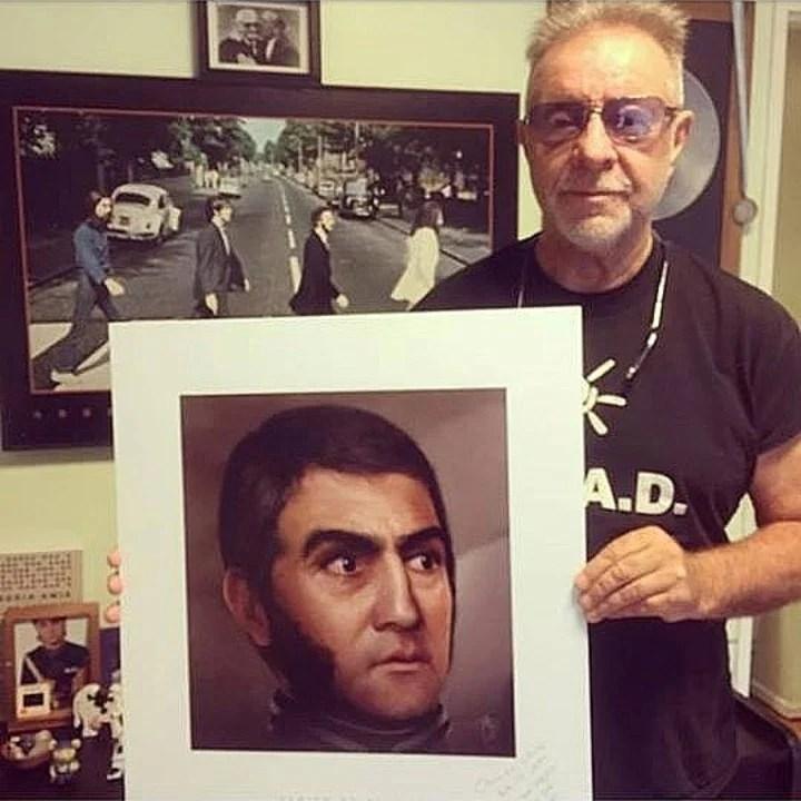León Gieco, uno de los artistas que ayudaron a Ghigliazza a difundir su proyecto.