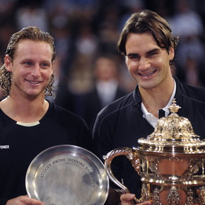 """Nalbandian met Federer again at Roland Garros and brought out his Cordovan humor: """"You're copying me the other way around, huh"""""""