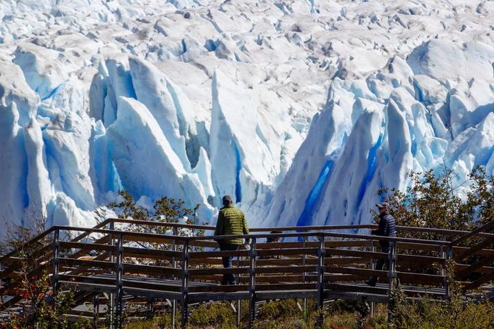 Perito Moreno Glacier, Santa Cruz.  Photo Télam.