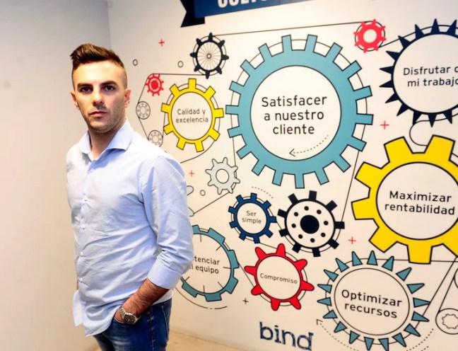 Ariel Sbdar (28) es jefe de Equities en el Bind Inversiones. (Juan Manuel Foglia)