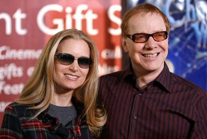 Danny Elfman, con su esposa, Bridget Fonda.