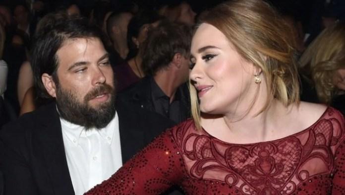 Adele and Simon Konecki. (Photo: AFP)