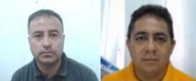 Los dos pilotos bolivianos detenidos en México en un avión que llevaba una tonelada de cocaína desde Salta. Miguel Angel Blasquez Vallejos y Aldo López Matienzo (remera amarilla).