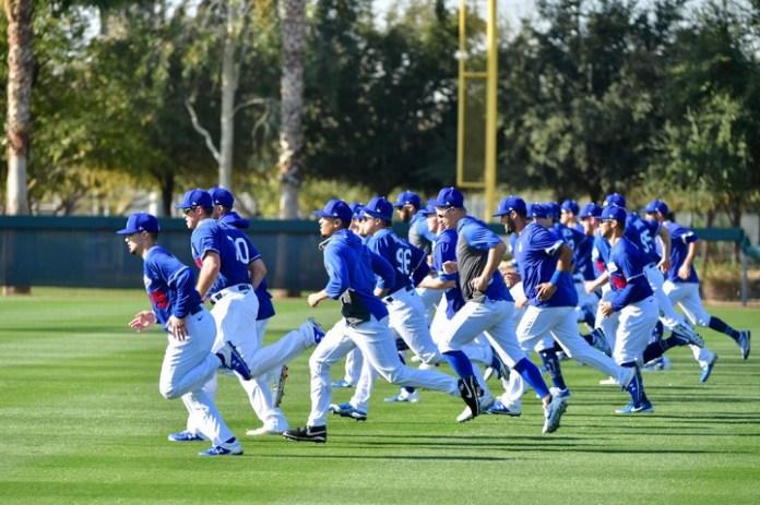 Los Angeles Dodgers, en plenos preparativos para la temporada 2020. Fueron los derrotados por Houston Astros en la Serie Mundial 2017. (Matt Kartozian-USA TODAY Sports)