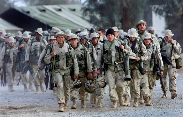 US Marines in Kandahar, Afghanistan in 2001. Photo: AP