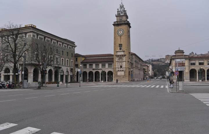 La ciudad de Bérgamo, desierta. / EFE