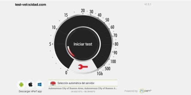 Hay sitios de Internet que pueden medir la velocidad de conexión.