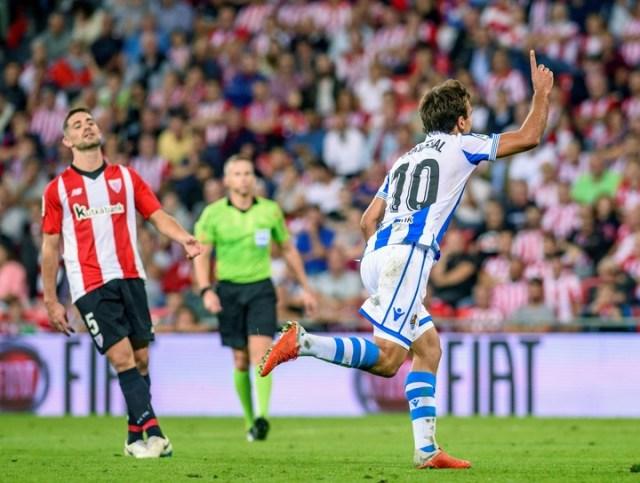 El clásico vasco -en la final de la Copa del Rey- será el primero en la historia del certamen (Foto:EFE).