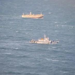 El buque pesquero chino que se había fugado fue detenido y Prefectura lo escoltó hacia Puerto Madryn