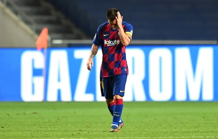 Messi's disappointment.  Photo: DPA.