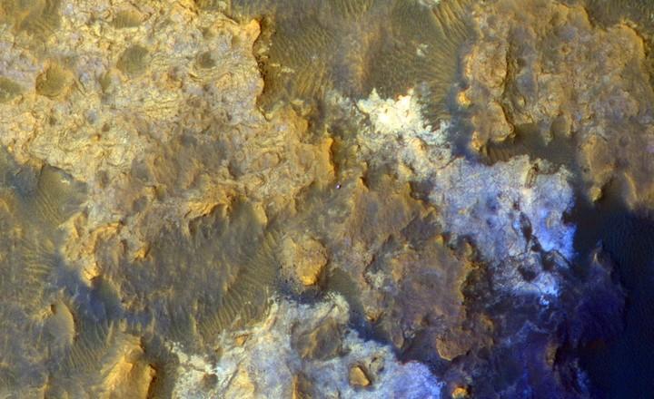 Una imagen de la superficie de Marte tomada desde el Curiosity (AFP).