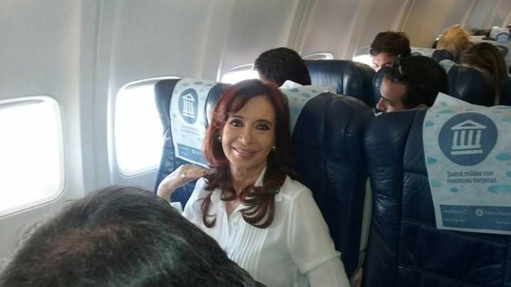 Cristina Kirchner in El Calafate.