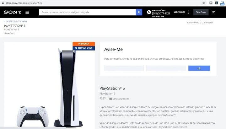 PlayStation 5 out of stock.  The video game console sold out in record time.  Photo: screenshots.