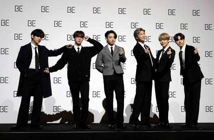 """BTS lanzó """"Be"""", un disco que pretende enviar un mensaje de optimismo en medio de la pandemia. /Foto AP Photo/Lee Jin-man"""