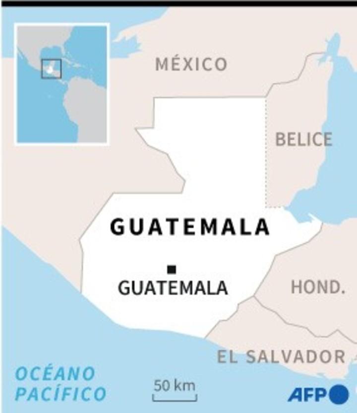 Map of Guatemala locating the Guatemalan capital - AFP / AFP