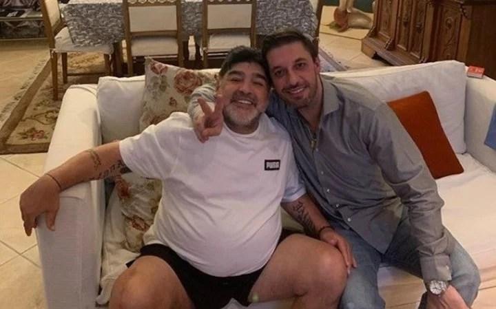Maradona y Morla, juntos, meses atrás.