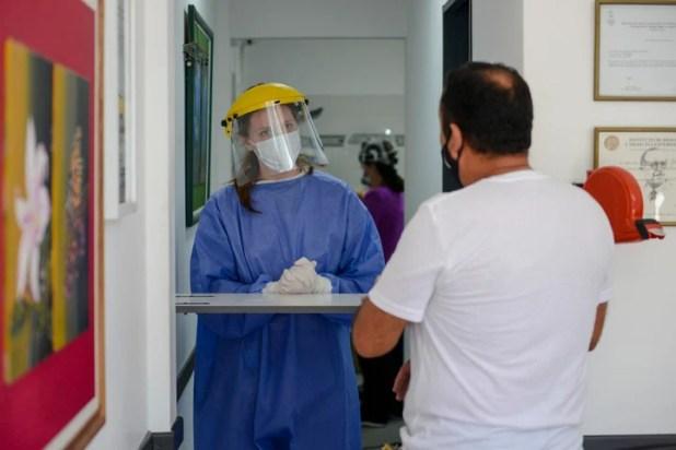 En el Labortorio Ejarque hicieron un pico de testeos de Covid el 31 de diciembre. Foto: Andres D'Elia