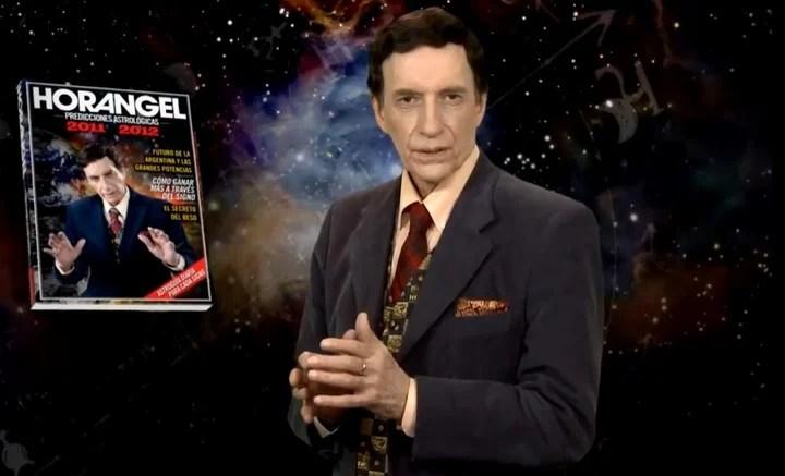 Horangel y su libro Predicciones Astrológicas, que tuvo 46 ediciones.