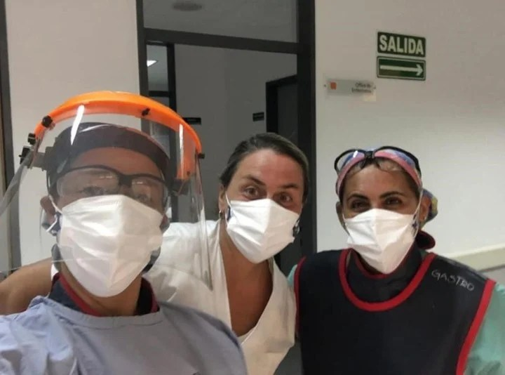 The Olympic medalist is specializing in bile ducts at the Florencio Varela hospital.