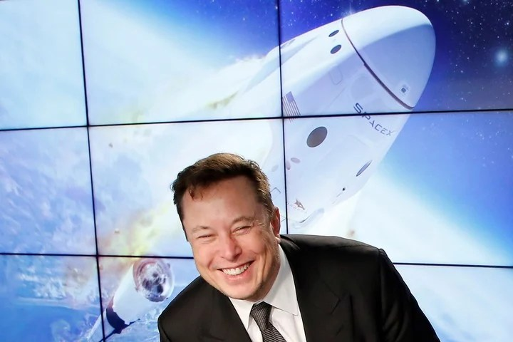 In addition to his satellite network, Musk won a major contract with NASA to send astronauts to the Moon.  Photo Reuters.