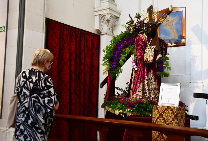 The Nazarene of San Pablo is especially venerated on Wednesday of Holy Week.  Photo Marcelo Carroll
