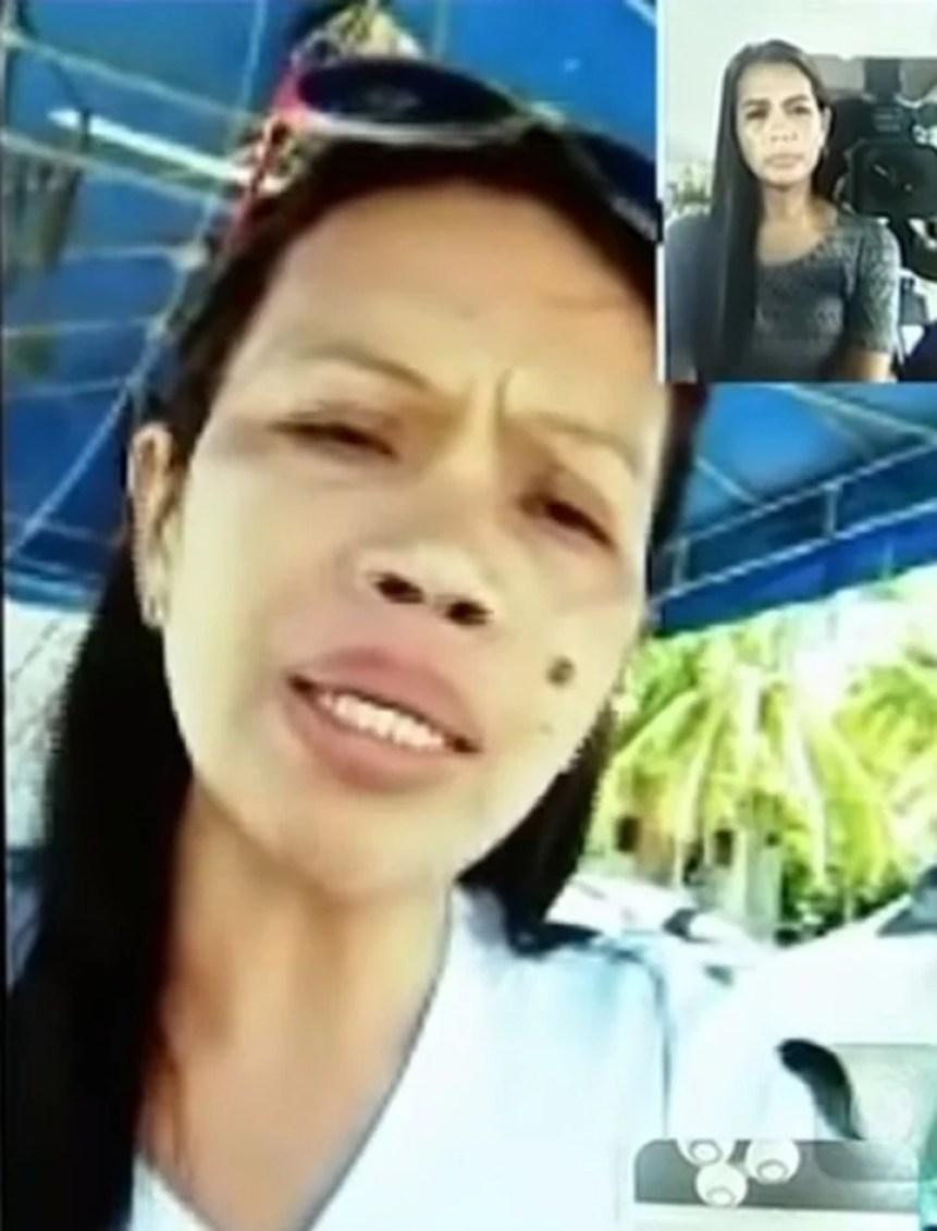Mitchilou Fabregas Sapipi, madre de la víctima, durante una entrevista televisiva. Captura YouTube.