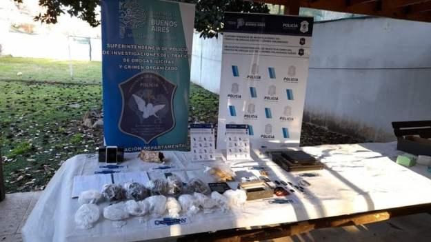 El material incautado en los operativos de la Policía Bonaerense.