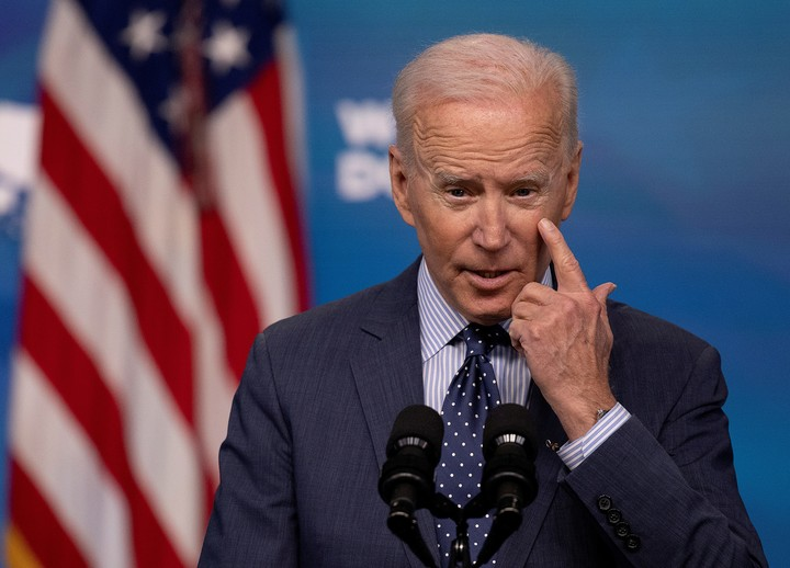 Abbott charged against the immigration policy of US President Joe Biden.  Photo: REUTER